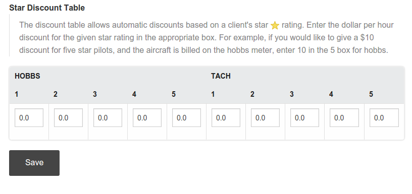 bookable star pricing