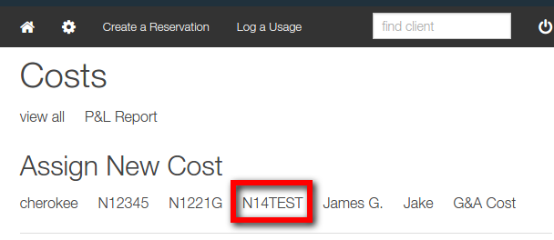 assign new cost