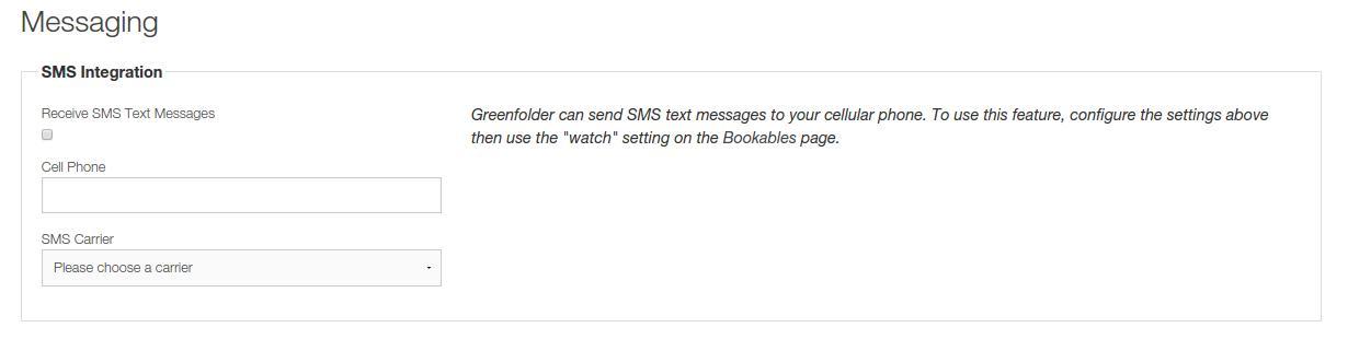 client profile sms setup
