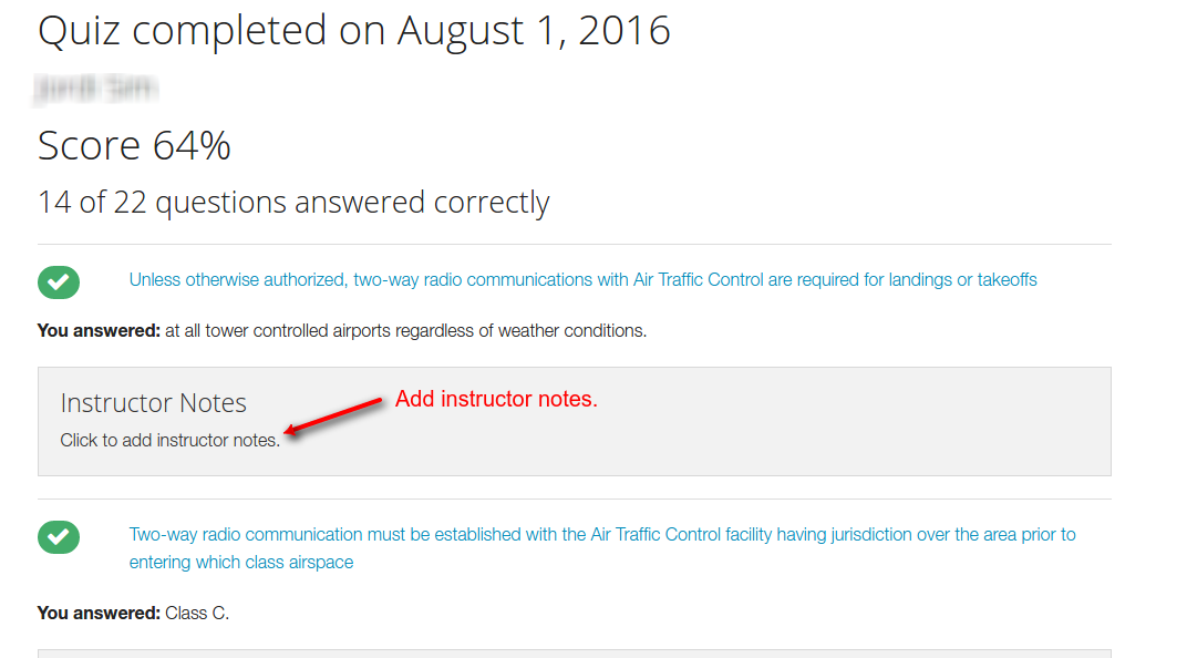 add instructor notes