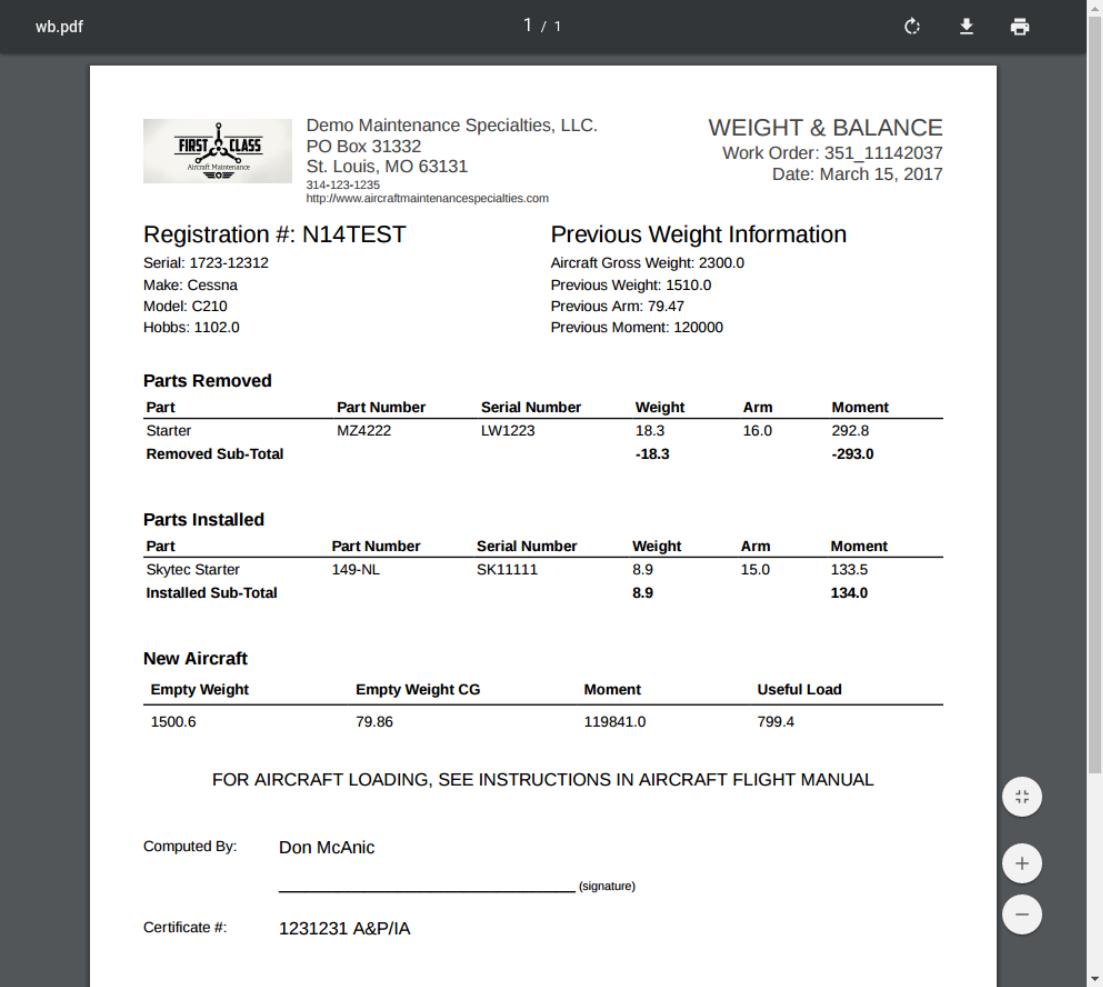 wb pdf with mechanic signature