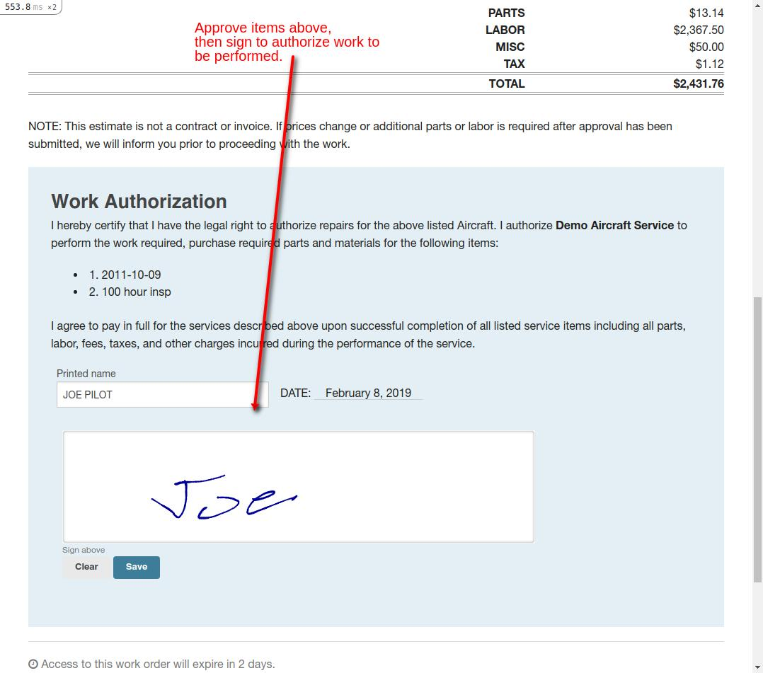 estimate work authorization