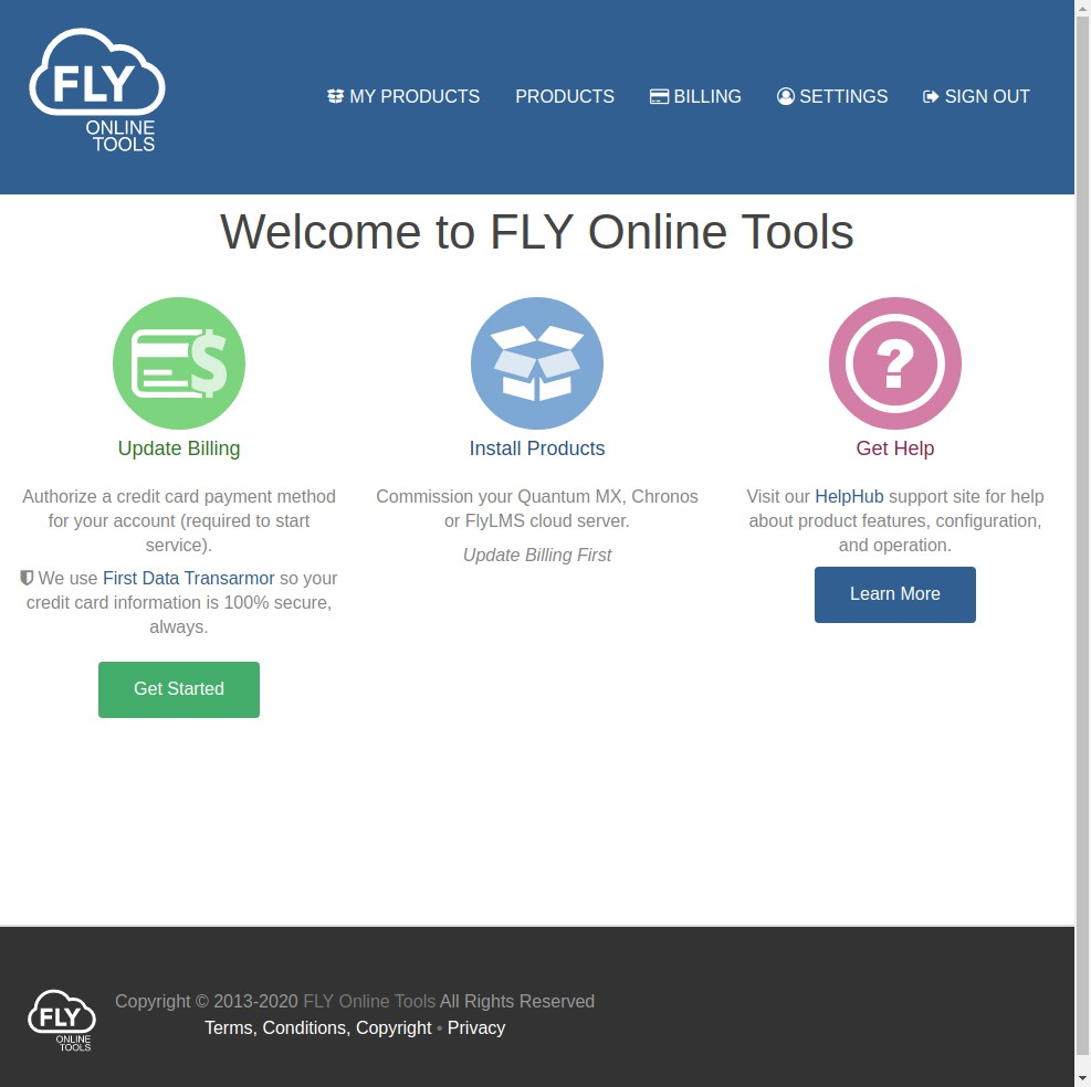 fly online tools welcome
