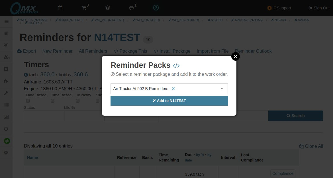 install reminder package