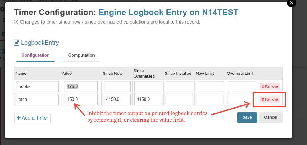 remove unwanted logbook entry time