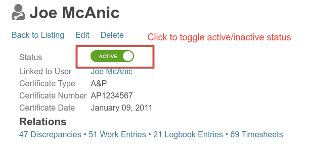 toggle mechanic cert active state